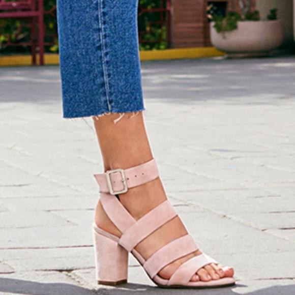 NIB Vionic Blaire Suede Heel Sandal in Rose